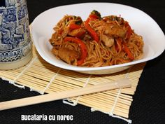 Ramen - Bucataria cu noroc Oriental, Exotic Food, Japchae, Ramen, Spaghetti, Ethnic Recipes, Noodle