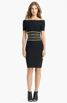 Herve Leger Embroidered Waist Dress available at #Nordstrom