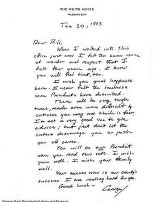 You may have noticed a letter that went viral on the internet this week. The letter is from George H.W. Bush's presidential library. I hadn't read it in a long time, until yesterday. It moved me to tears, just like it did all those years ago. It's the letter that President Bush left in the Oval Office for my husband, back in January of 1993. They had just fought a fierce campaign. Bill won, President Bush lost. In a democracy, that's how it goes. But when Bill walked into that office for the…