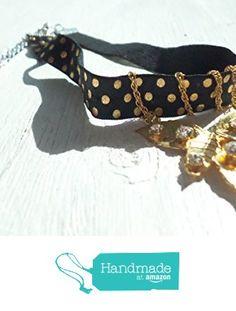 Rhinestone studded leaf stretch fabric ribbon choker from Noi's Niche http://www.amazon.com/dp/B01DEQE3WC/ref=hnd_sw_r_pi_dp_Nnm9wb12AP1R7 #handmadeatamazon