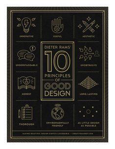 trendgraphy:  10 Principles of Good Design Poster by Gerren... #poster #typography #illustration