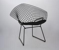 Silla Replica Bertoia Diamond - Negra - Sillas - Sentarse - Muebles