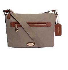 Coach Sawyer Signature Canvas Leather Stone Grey Crossbody Messenger Shoulder Bag 37239 -- Check out the image by visiting the link.