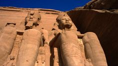 Travel: Giant statues at Abu Simbel, Egypt