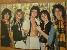 The Bay City Rollers, Two Page Vintage Centerfold Poster