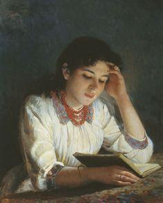 Илья Галкин (1860-1915). За чтением
