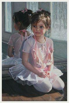 Chantal Poulin - beautiful little ballerina painting