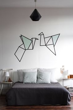DIY wallart with masking tape