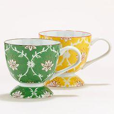 Lotus Blossom Mugs, Set of 2   Tea Time   World Market