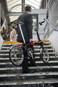 Off Yer Bike Brompton handle - Harris Cyclery bicycle shop - West Newton, Massachusetts