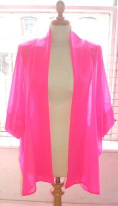 Baylis & Knight Hot Pink Chiffon Mid Length by BaylisandKnight, £39.00