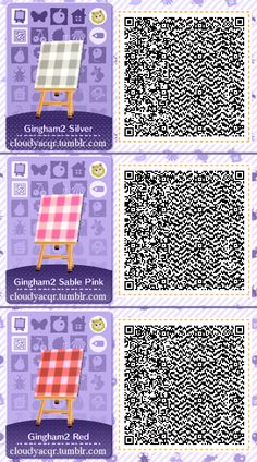 Animal Crossing QR Codes by Cloudy, Plaid Designs Set of Pillows, picnic c. Animal Crossing QR Codes by Cloudy, Plaid Designs Set of Pillows, picnic Qr Code Animal Crossing, Animal Crossing Qr Codes Clothes, Design Set, Acnl Qr Code Sol, Motif Acnl, Ac New Leaf, Happy Home Designer, Poster, House