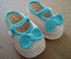 Zapatillas para Bebe Tejidas al Crochet!!!