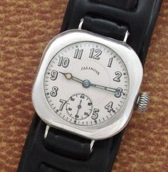 Men's 1918 Illinois Sterling Silver Wrist Watch | Strickland Vintage Watches
