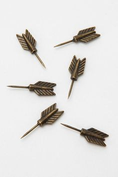 Archer Pushpin - $10.00 » If you keep a corkboard around for inspirations and notes, why not dress it up a little with some unexpected pushpins?