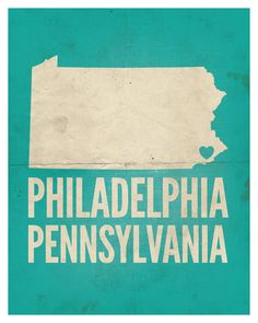 "Philadelphia, Pennsylvania Love Print, 8"" x 10"". $22.99 USD, via Etsy."