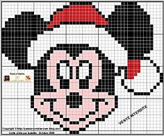 Mickey Mouse Christmas cross stitch --    click on photo for chart