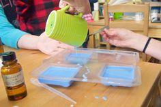 Making melt & pour soap in Bellingham