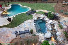 Pool Contractors, Luxury Pools, Custom Pools, Pool Builders, Outdoor Living, Outdoor Decor, Swimming Pools, Living Spaces, Patio