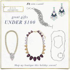 Fa la la favorites under $100 Holiday Gift Giving!! www.chloeandisabel.com/boutique/noemilenette