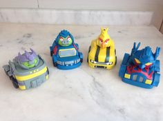 Gumpaste Angry birds transformers