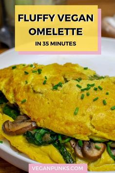 Breakfast just got a whole load better with this healthy, simple, fast, and delicious vegan omelette. Click through to get the full recipe and let us know what you think!  #vegan #veganomelette #veganrecipes #veganfood #plantbased Best Tofu Recipes, Delicious Vegan Recipes, Tasty, Vegan Omelette, Vegan Stir Fry, Vegan Comfort Food, Vegan Food, Healthy Vegan Breakfast, Just Cooking