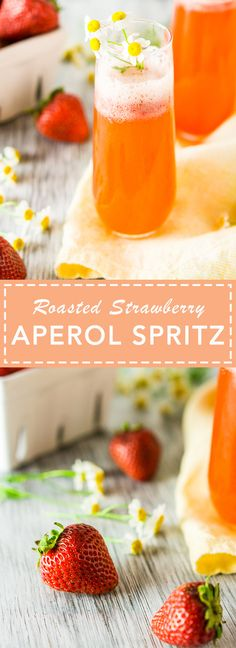 Roasted strawberry puree adds a fun twist to the classic aperol spritz. Perfect for brunch or evening cocktails on the patio. Bubble Recipe, Cocktails For Parties, Roasted Strawberries, Best Cocktail Recipes, Strawberry Puree, Holiday Recipes, Brunch, Bubbles, Patio