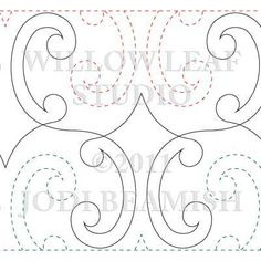 Here is part of the selection of Pantograph Patterns that I have available for edge to edge Quilting.  For the complete listing of Patterns...