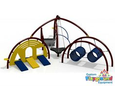Exciting Preschool Playground for Toddlers! by CustomPlaygroundEquipment.com
