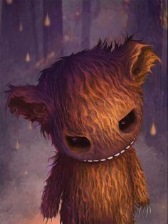 Bang Bang Bear- Afterland character by Elin Jonsson for Imaginary Games #Afterland #ImaginaryGames #ElinJonsson