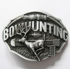 Bowhunting Deer Wildlife Belt Buckle