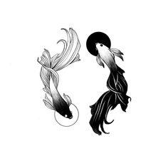 Yin Yang Tattoos, Bff Tattoos, Tatuajes Yin Yang, Friend Tattoos, Future Tattoos, Body Art Tattoos, Small Tattoos, Tatoos, Tattoo Sketches