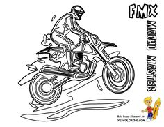 Free Online Motorbike Colouring Page