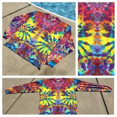 178cf146 Heady Tie Dye Shirt, Long Sleeve Adult XL, Ice Dyed by Southern Iced Tees