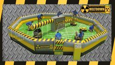 Meltdown is a game designed to challenge your agility, balance and endurance. Either duck or jump over the two spinning beams or get wiped out! http://www.therodeobullcompany.com/Meltdown.html