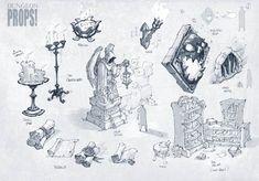 Battle Chasers Nightwar game 1st props concept art (Texture)