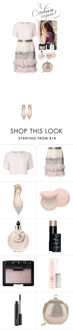 """Happy New Year dear friends! Best wishes❤️"" by eliza-redkina ❤ liked on Polyvore featuring True Decadence, Matthew Williamson, Jimmy Choo, Too Faced Cosmetics, NARS Cosmetics, MAC Cosmetics and Halston Heritage"