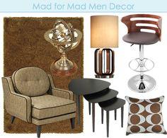 Mad Men Inspired decor on Overstock.com.