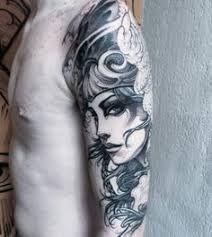 60 Valkyrie Tattoo Designs For Men - Norse Mythology Ink Ideas Cool Shoulder Tattoos, Back Of Shoulder Tattoo, Shoulder Tattoos For Women, Best Tattoos For Women, Tattoos For Guys, Valkerie Tattoo, Tattoo Kind, Norse Tattoo, Unique Tattoos
