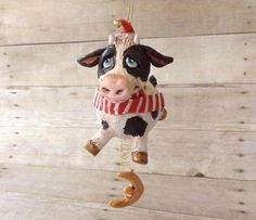 First Christmas cow ornament.