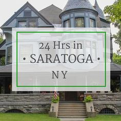Looking for fun towns to visit in the United States? Sharing 5 things to do in one of my favorite towns - Saratoga Springs, NY!