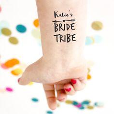 bride tribe temporary tattoos