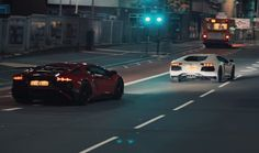 Lamborghini Aventadors loose on the streets of England. Check out this amazing footage taken in Leicester at night. https://youtu.be/UPHKSdneZQk