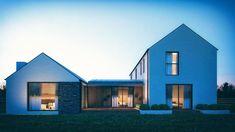 Lough View - McAleenan NI Modern Bungalow Exterior, Modern Bungalow House, Bungalow House Plans, Modern Farmhouse Exterior, Dream House Plans, Bungalow Ideas, Farmhouse Renovation, Home Building Design, Building A House