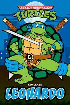 Teenage Mutant Ninja Turtles: Leonardo a.a Leo Teenage Mutant Ninja Turtles, Teenage Ninja, Teenage Turtles, Ninja Turtle Birthday, Turtle Party, Tortugas Ninja Leonardo, Leonardo Tmnt, Ninja Turtles Art, Pixel Art
