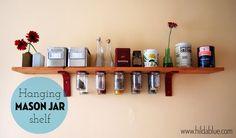Mason Jar Shelf DIY project