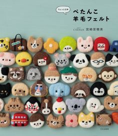 Book Crafts, Clay Crafts, Felt Crafts, Felt Diy, Handmade Felt, Needle Felted Animals, Felt Animals, Chat Kawaii, Needle Felting Tutorials