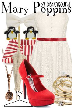 Outfit inspired by Mary Poppins when she is dancing with the penguins and getting on the carousel. Description from pinterest.com. I searched for this on bing.com/images