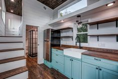 Magnolia by Indigo River Tiny Homes - Tiny Living - - From Dallas, Texas-based Indigo River Tiny Homes is the Magnolia. This tiny house on wheels features a food truck window with eat-at bars. Small Room Design, Tiny House Design, Tiny House Layout, Tiny Houses For Sale, Tiny House On Wheels, Food Trucks, Apartment Size Refrigerator, Timbercraft Tiny Homes, Tiny Living Rooms