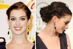Anne Hathaway, Braided Updo, Updos, Bridal Hair, Envy, Hair Makeup, Braids, Hair Beauty, Make Up